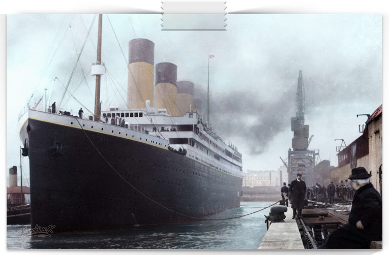 photo titanic color